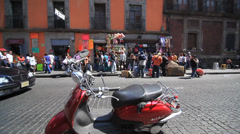 MEXICO CITY - PEOPLE WALKING IN STREET - stock footage