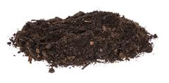 heap of dirt isolated on white - stock photo