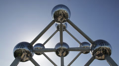 ATOMIUM BUILDING BRUSSELS Stock Footage