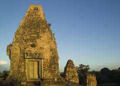 Ancient Temple Angkor Wat Cambodia Khmer Preah Rup - stock photo