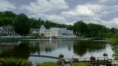 Lake & Casino - Bagnoles-de-l'Orne France Stock Footage