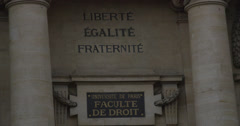 PARIS - LAW SCHOOL ENTRANCE Stock Footage