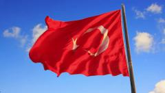 Turkey Flag, SM Stock Footage