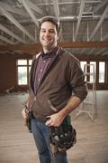 Portrait of handyman Stock Photos