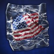 Shrink wrapped light flag - stock photo