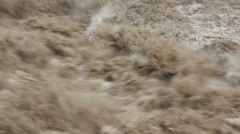 Flood water swollen river Alberta, Canada - stock footage