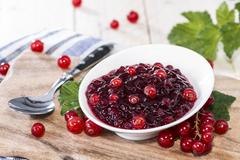 Stock Photo of fresh made red currant jam