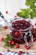fresh made red currant jam - stock photo