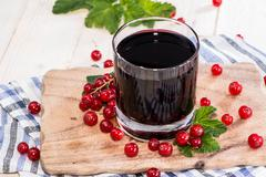 red currant juice - stock photo