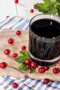 Red currant juice Stock Photos