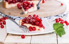 Portion of red currant cupcake Stock Photos