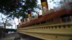 Luxury Wooden Ship Stock Footage