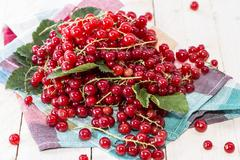 heap of red currants - stock photo