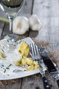 fresh baked potato - stock photo