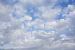 Alto Cumulus clouds - stock photo