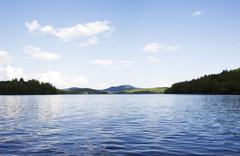 USA, New York State, Adirondack Mountains, Upper Saranac Lake - stock photo