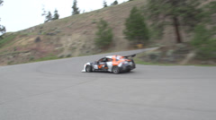 Motorsports, hill-climb, Scion FRS outside hairpin Stock Footage