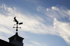 USA, New Jersey, Building top with wind vane - stock photo