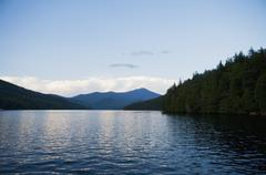 Stock Photo of USA, New York State, View on Lake Placid