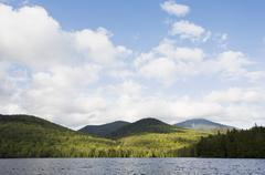 USA, New York State, Adirondack Mountains, Lake Placid Stock Photos