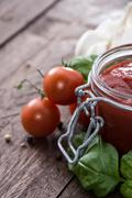Stock Photo of homemade tomato sauce