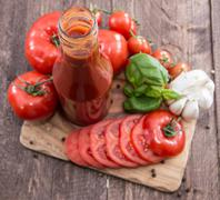 tomato ketchup - stock photo