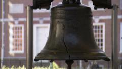 Philadelphia's Liberty bell Zoom Out Stock Footage