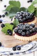 black currant pie - stock photo