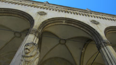 Germany Munich Odeonsplatz Feldherrnhalle n Theatiner Kirche church Stock Footage