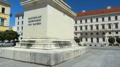 Germany Munich Wittelbachersplatz Siemens Headquarter at the back Stock Footage