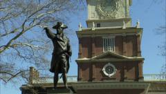 Philadelphia's Independence Hall 3 - stock footage