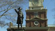 Stock Video Footage of Philadelphia's Independence Hall 3