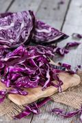 Stock Photo of fresh made red coleslaw