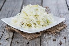 portion of coleslaw - stock photo