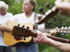 Outdoor musical performance - stock photo