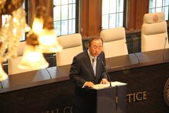 UN secretary general Ban Ki-Moon - stock photo