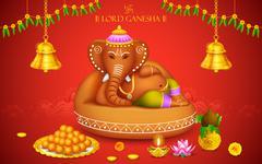 Lord Ganesha - stock illustration