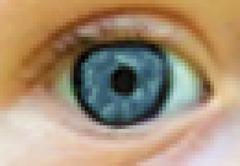 Human eye pixelated Stock Photos