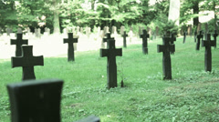 Second world war cemetery Stock Footage