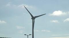 Wind turbine Greenpark Reading from Kirtons Farm RD 02 Stock Footage