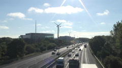 M4 & Greenpark Reading from Kirtons Farm RD 01 Stock Footage