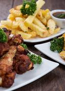 fingerfood on a plate - stock photo
