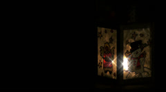 Christmas Lantern Glint in Black - stock footage