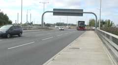 A33 at M4 jnc11 04 Stock Footage