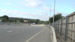 A33 at M4 jnc11 01 Stock Footage
