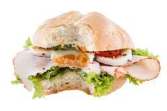 chicken breast sandwich - stock photo