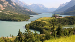 Prince of Wales Hotel Waterton Lakes National Park, Alberta, Canada - stock footage