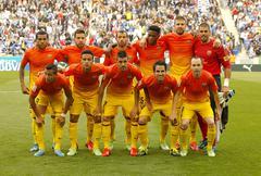 FC Barcelona lineup Stock Photos