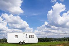 caravans camping - stock photo