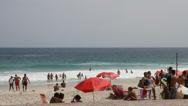 Beach in Ipanema Stock Footage